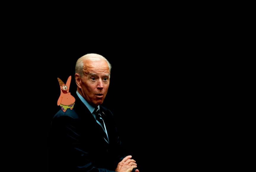 Joe Biden always listen to the voice of his conscience Patrick Star