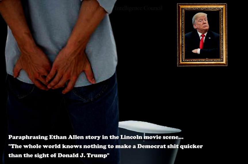 Paraphrasing Ethan Allen story in the Lincoln movie scene