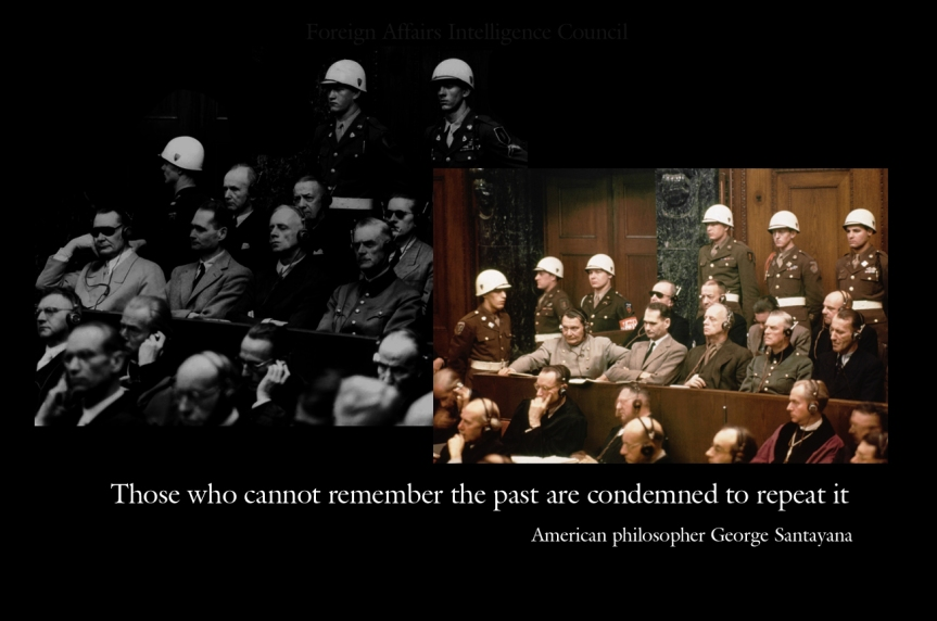 Those who cannot remember the past are condemned to repeat it