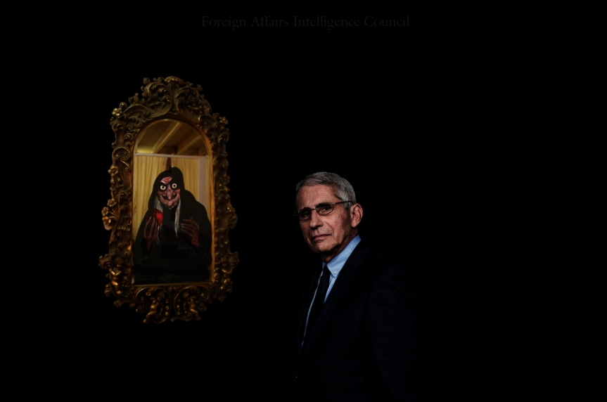 Fauci in front the mirror