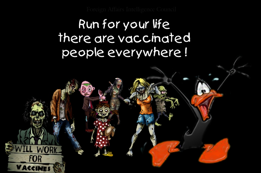 Run for your life vaccinated people everywhere